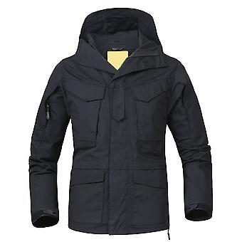 Allthemen Men's Outdoor Waterproof Windbreaker-Black-M/L