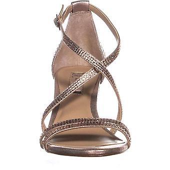 INC Internationella koncept Womens Kamma Fabric Open Toe Ankle Strap D-orsay Pumps
