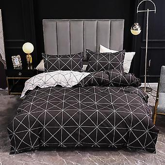 Bed Linens Marble Reactive Printed Duvet Cover Set