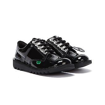 Kickers Kick Lo Patent Junior Mustat kengät