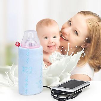 Resevagn Usb Mjölk Vatten Varmare Isolerad Väska