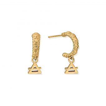 כלובו סטרלינג כסף זהב מצופה מיני אוויר חישוק עגילים GEH3139