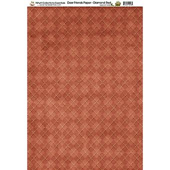 Nitwit Collection - DF Diamond Red Paper A4 10 Sheets
