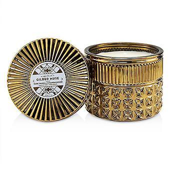 Capri Blue Gilded Muse Faceted Jar Candle - Dark Vanilla & Sandalwood 312g/11oz