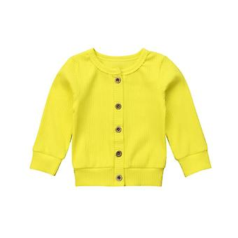 Newborn Infant Baby,, Autumn Clothes, Solid Coat, Knitted Sweater Top, Long