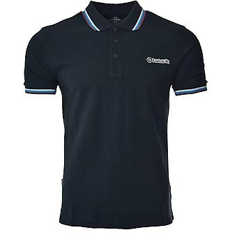 Lambretta Triple Tipped Target Polo - Navy/Wit/Blauw/Aubergine