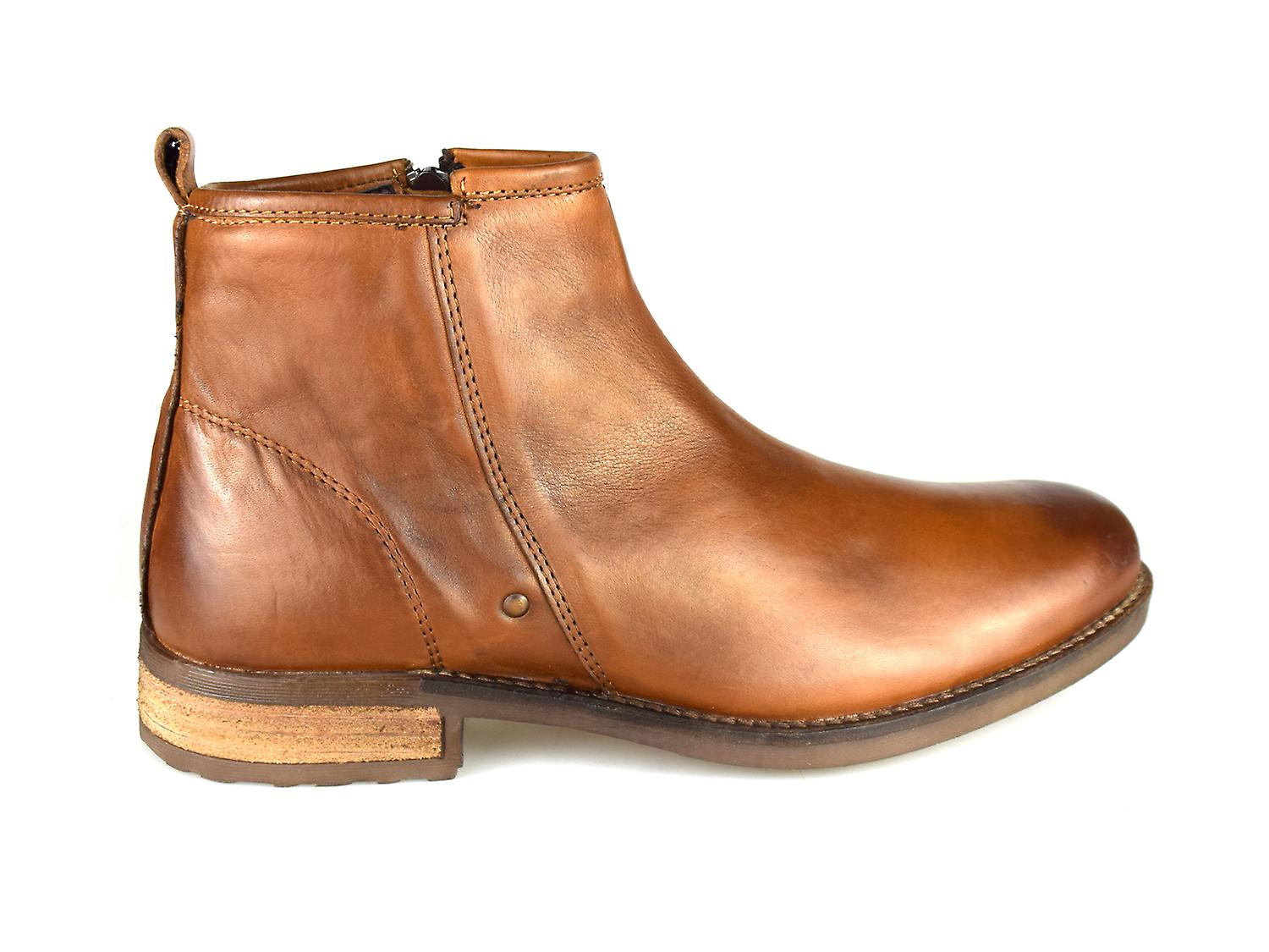 Silver Street Dover Tan Leather Formal Mens Brogue Boots