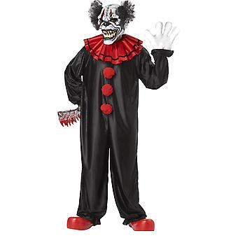 Mens Last Laugh Evil Clown with Ani-Motion Mask Halloween Fancy Dress Costume