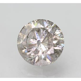 Cert 1.55 Carat Fancy Silver SI3 Round Brilliant Enhanced Natural Diamond 7.15mm