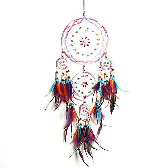 Feather Dream Catcher Pendant Beads Handmade Dreamcatcher Home Wall Decorations Gift For Kids