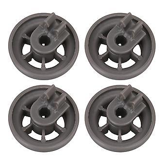 4x Gray Plastic Dishwasher Lower Dish Rack Roller 4581DD3003B 36x26mm