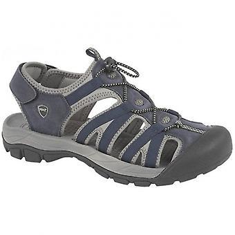 PDQ Zane Mens Toggle Hiking Sandals Navy