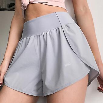 Summer Women High Wasit 2 en 1 jupe courte avec poche