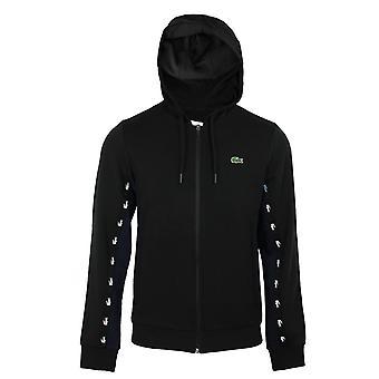 Lacoste men's black hooded sweatshirt