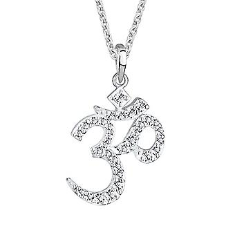 Elli Women's Necklace Character Om with Swarovski Crystals in Sterling Silver 925