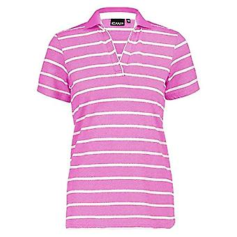 CMP Striped T-Shirt in 100% Cotton, Woman, Orchid, D46