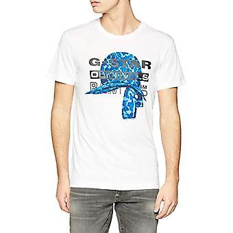 G-STAR RAW Graphic 45 T-Shirt, Vit (Vit 110), Liten Man