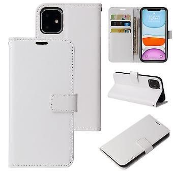 flip folio skinnveske for iphone 11 hvite pns-3453