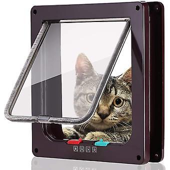 Katzenklappe Hundeklappe 4 Wege Magnet-Verschluss für Katzen, große Hunde Hundetür Katzentür