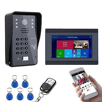 Wired Wireless Wifi Rfid Password Video Door Phone/bell Intercom Entry System