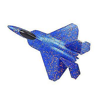 Avion de combat en mousse bleue, modèle réduit d'avion, chasseur plané pour enfants az2017