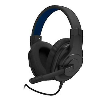 Casque de jeu Urage SoundZ 200 avec microphone / USB pour ordinateur / Spécifiquement pour les jeux vidéo / plastique noir / bleu