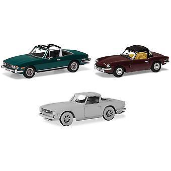 Corgi Sporting Triumph samling Svensexa, Spitfire, TR6 Diecast Modeller