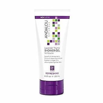 Andalou Naturals Shower Gel, Refreshing Lavender Thyme 8.5 Oz