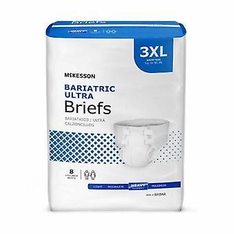 McKesson Unisex Adulto Incontinenza Brief, 3X-Large, Bianco, 8 Sacchetti