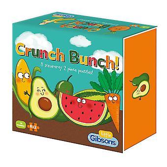 Gibsons Crunch Bunch Rompecabezas (8 x 2 Piezas)