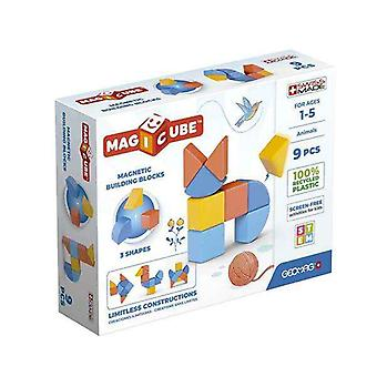 Construction set Geomag Magicube animals (9 Pieces)