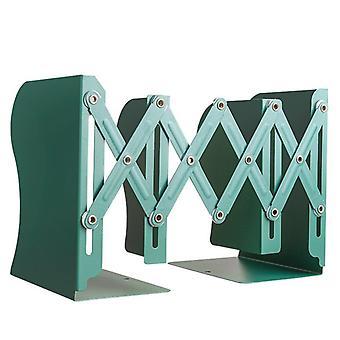 Metal Retractable Bookshelf Desk Student Book Holder Folding Bookends Storage Office School