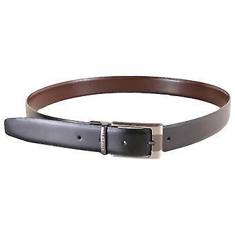 Ted Baker Crafti Smart ceinture réversible en cuir - noir/brun
