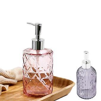 Glazen zeepdispenser badkamer vullen lege flessen voor shampoo body cream