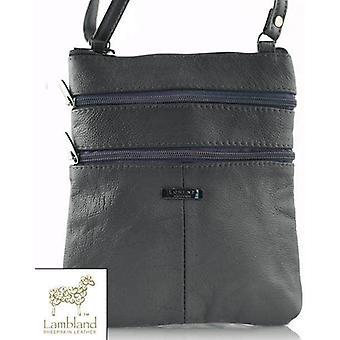Ladies Small Multi Zip Cross Body Handbag
