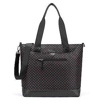 Women Laptop Bag 15.6 Inch,  Nylon Multifunctional Classic Work Travel Messenger Shoulder Bag,grey Black Spot