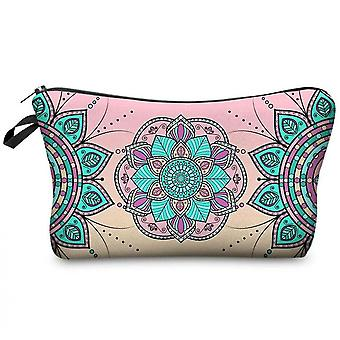 Cosmetic Bags For Women, Travel Toiletry Organizer With Zipper (mandala Flower Design)(Color4)