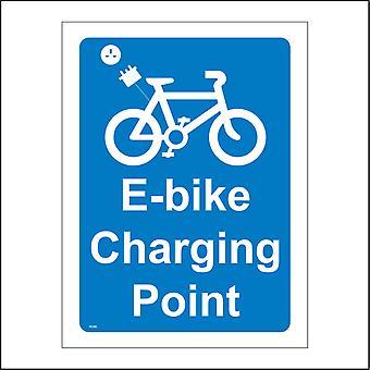 TR389 E-Bike Charging Point Sign with Plug Socket Bike