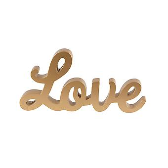 Sass & Belle Gold Love Staande Brieven