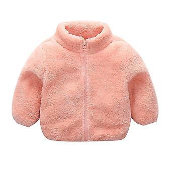 Dětské zimní bundy pro roztomilý zip teplé svrchní oděvy