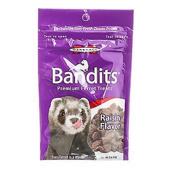 Marshall Bandits Premium Ferret Treats - Rasin Flavor - 3 oz