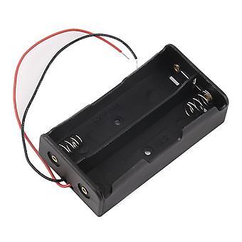 Пластиковый чехол для хранения батареи Держатель коробки для 2 х 18650 3,7 В с проводными проводами