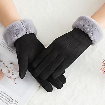 Ladies Hand Sewn Soft Real Lambskin Gloves Pink