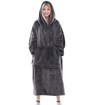 Flanel warm sweatshirt halat de baie cu glugă Pătură 4