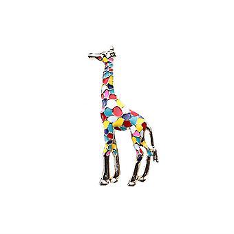 Colored Drip Oil Giraffe Brooch Unisex Brooch Scarf Buckle