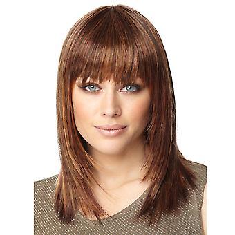 Brand Mall Peruukit, Pitsi peruukit, Realistinen Bangs, Lyhyt kiharat hiukset, Suorat hiukset