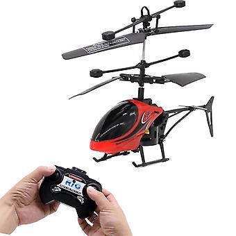 Mini Zwei-Kanal-Fernbedienung Flugzeug Hubschrauber Modell Elektrisches Spielzeug