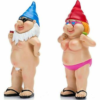 Hage Gnomes Slem 2pcs Statuer