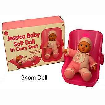 Rose Jessica Baby Doll Soft Carry Seat / Rocking LANDAU Kids Toy