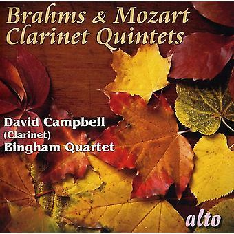 J. Brahms - Brahms y Mozart: Importación de USA de quintetos de clarinete [CD]